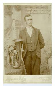 Jesse Sargent and his euphonium