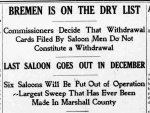 Bremen on the dry list -1908