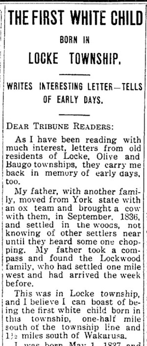 Permelia Grove memories - Wakarusa Trib 29 Apr 1915 p1