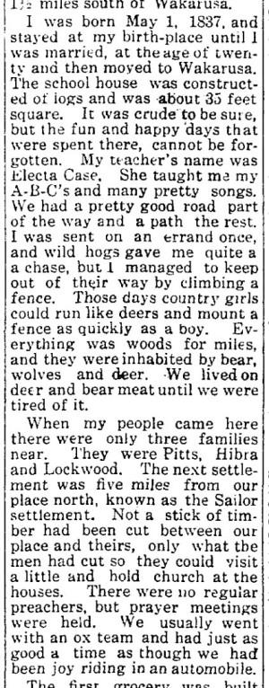 Permelia Grove memories - Wakarusa Trib 29 Apr 1915 p2