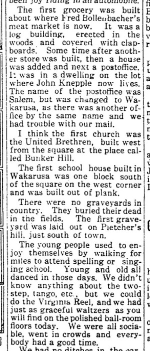 Permelia Grove memories - Wakarusa Trib 29 Apr 1915 p3