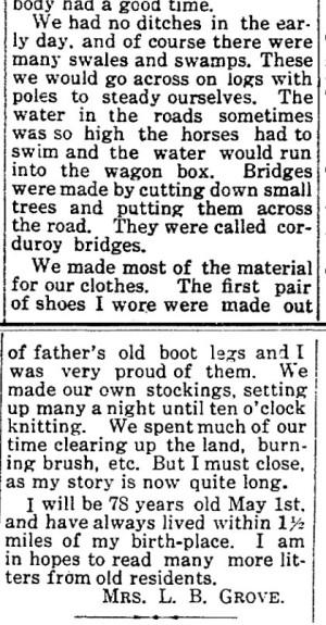 Permelia Grove memories - Wakarusa Trib 29 Apr 1915 p4