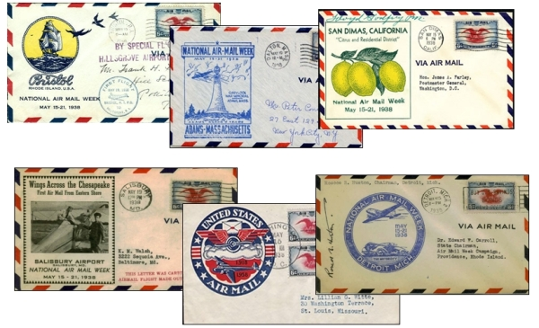 National Air Mail week cachets