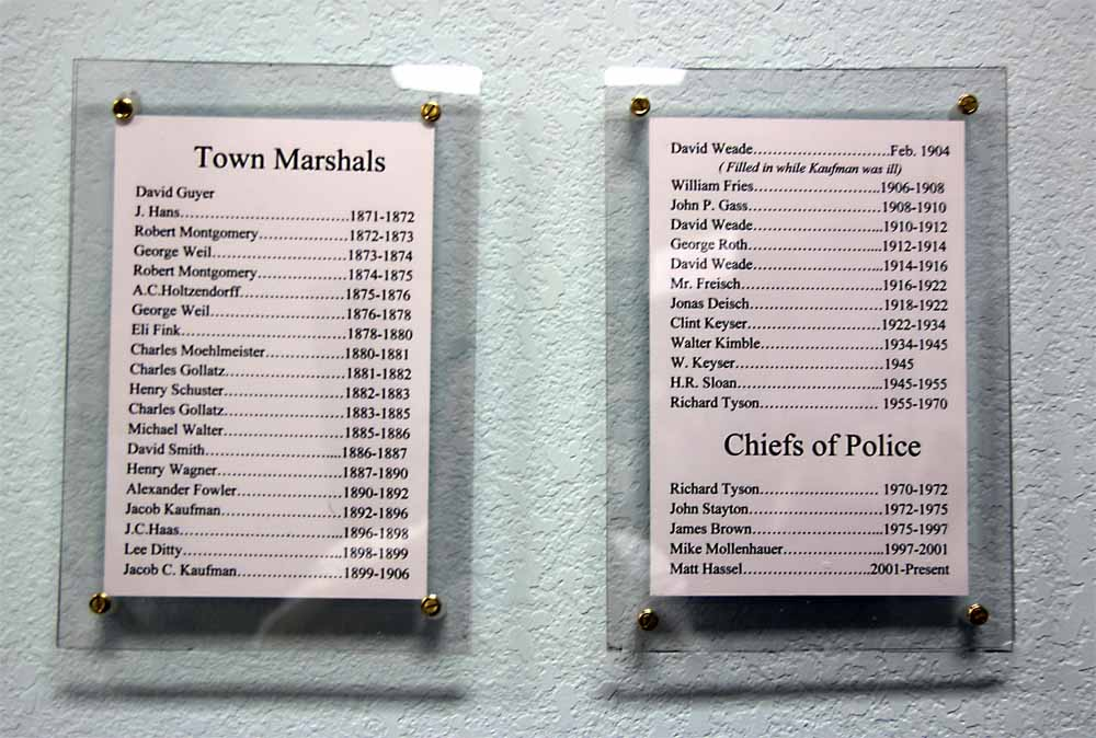 Bremen town marshals and chiefs of police