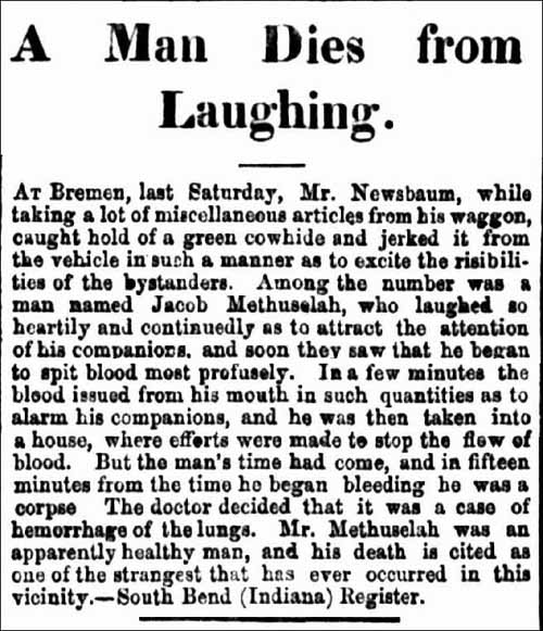 Bremen man dies from laughing