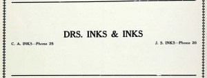 Drs Charles and John Inks - 1916 NHS yearbook