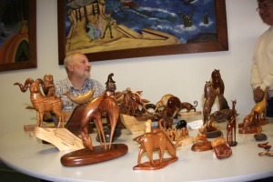 Keith Board and his wood carvings