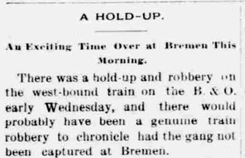 train holdup - 1896
