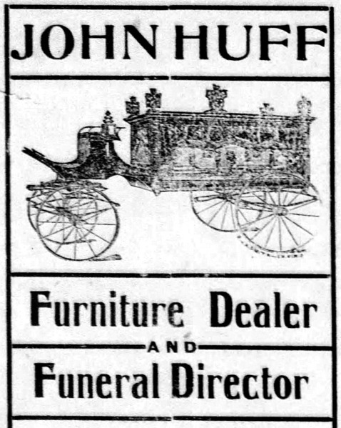 John Huff Furniture and Funeral - Enquirer - Dec_5__1902_