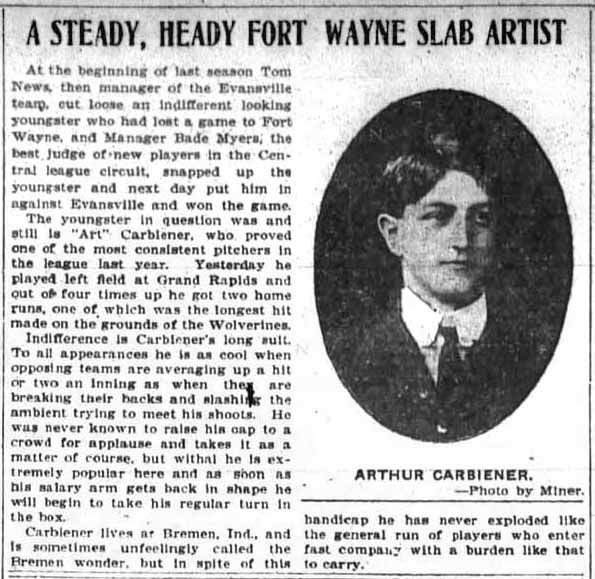 Carbiener - Fort Wayne Sentinel - 3 June 1904
