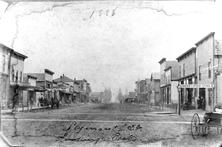 1888 Corner of Plymouth and Jackson - looking east