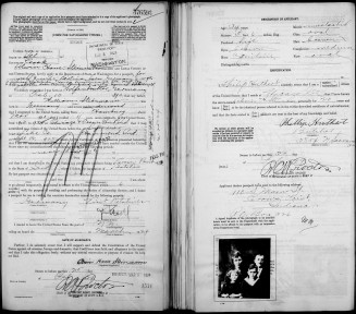 Steinmann passport application - 1924