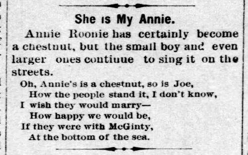 Annie Rooney parody - Enquirer_Fri__Nov_14__1890_