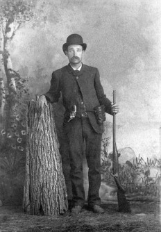 unknown man with shotgun - c1890