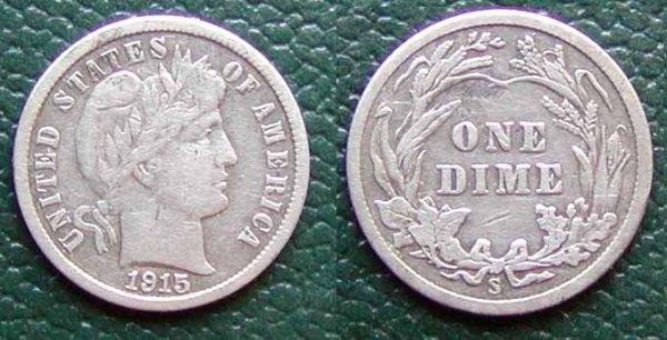 1915 dimes