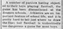 Football discontinued