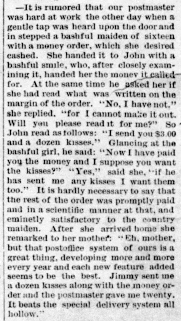 valentine by mail - Enquirer_Sat__Jan_30__1886_