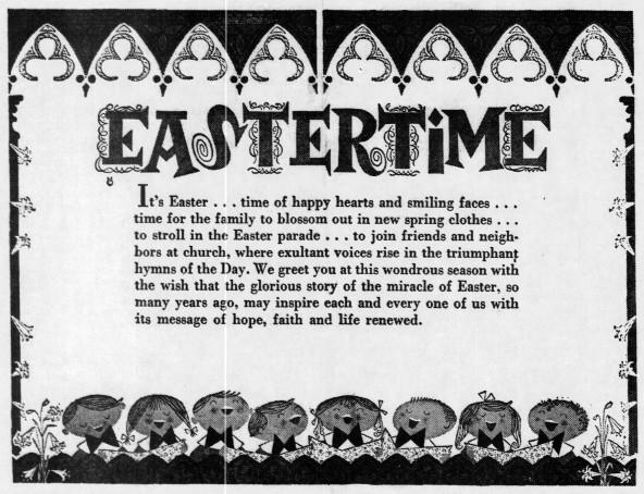 Easter cartoon - Enquirer_Thu__Apr_14__1960_