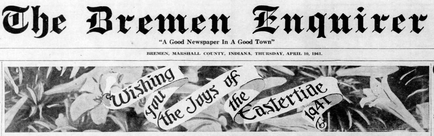 Easter headline - Enquirer_Thu__Apr_10__1941_
