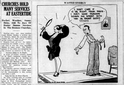 easter services and cartoon - Enquirer_Thu__Apr_21__1927_
