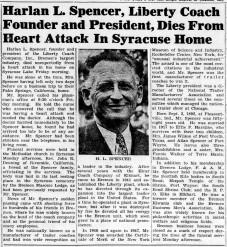 Harlan Spencer - LIberty Coach head dies - Enquirer_Thu__Oct_12__1950_