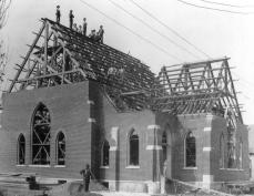 Salem church construction - c1900