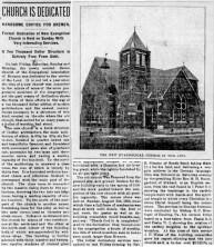 Salem Church dedicated, part 1 - 1901