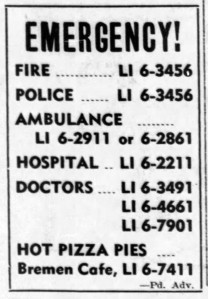earliest mention of pizza - Enquirer_Thu__Aug_8__1957_