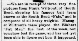 Wiltrout organizes fat baseball team - Enquirer_Fri__Sep_1__1899_